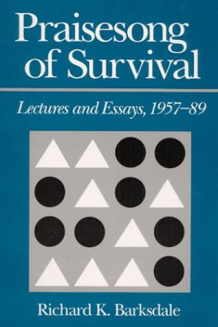 Praisesong of Survival : Lectures and Essays, 1957-89