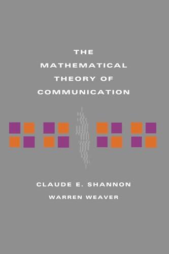 9780252725487: The Mathematical Theory of Communication