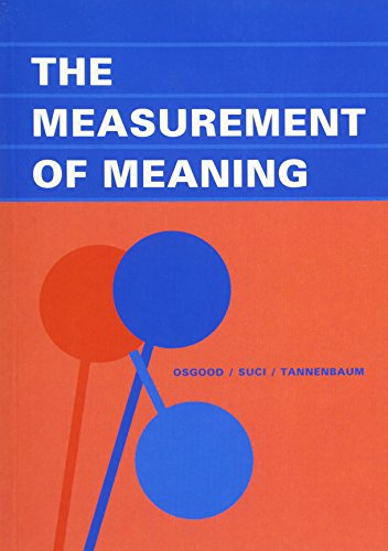 The Measurement of Meaning: Charles E.; Suci,