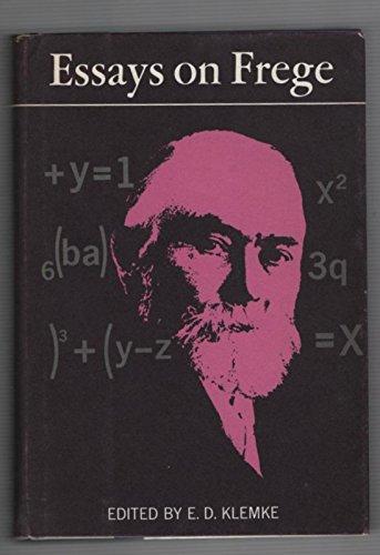 ESSAYS ON FREGE.: Klemke, E. D. (edited by).