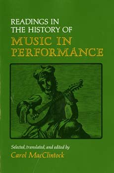 9780253144959: Readings in the History of Music in Performance