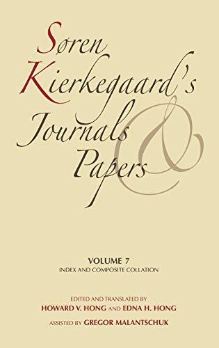 9780253182463: Soren Kierkegaard's Journals and Papers: P-r: Index and Composite Collation: 007