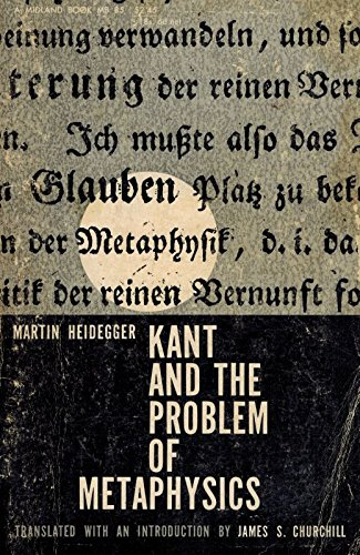 Kant and the Problem of Metaphysics (A: Martin Heidegger