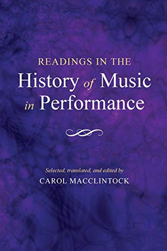 9780253202857: Readings in the History of Music in Performance (A Midland Book)
