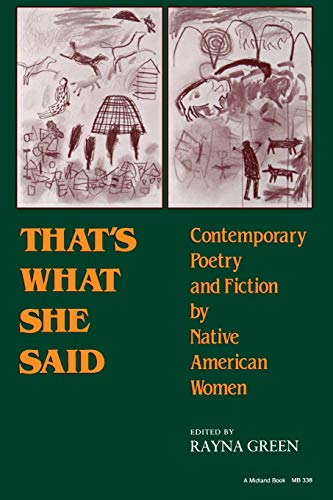 9780253203380: That's What She Said: Contemporary Poetry and Fiction by Native American Women (A Midland Book)
