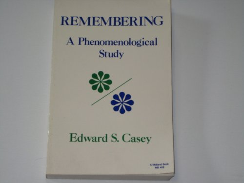 9780253204097: Remembering (Studies in phenomenology and existential philosophy)
