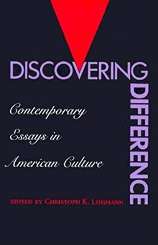 9780253208156: Discovering Difference: Contemporary Essays in American Culture