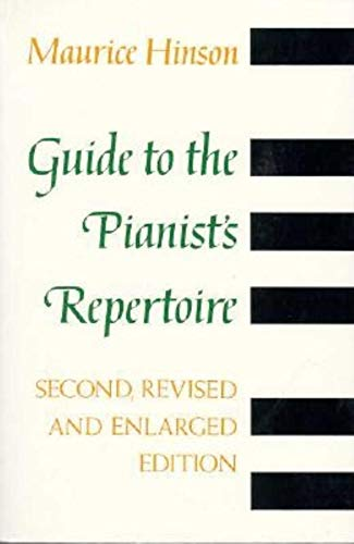 9780253208859: Guide to the Pianist's Repertoire, 2nd Revised and Enlarged Ed.