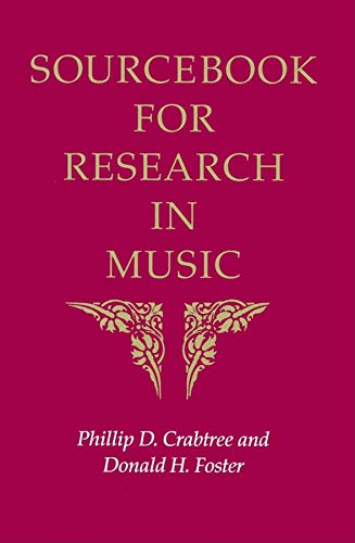 9780253213235: Sourcebook for Research in Music