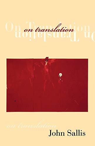 9780253215536: On Translation