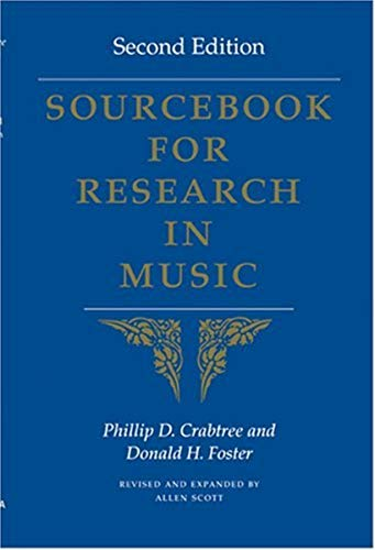 9780253217806: Sourcebook for Research in Music, Second Edition