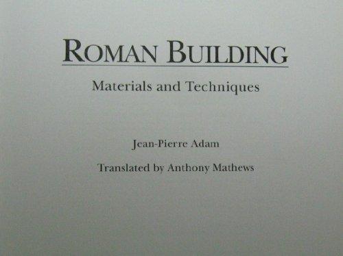 9780253301246: Roman Building: Materials and Techniques