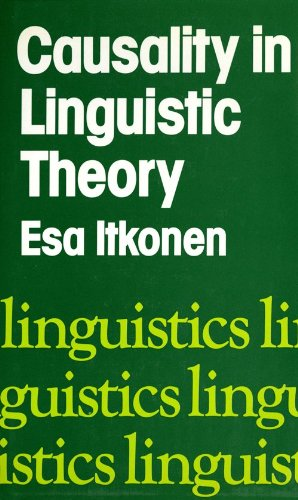 9780253313256: Causality in Linguistic Theory