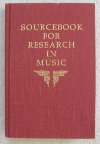 9780253314765: Sourcebook for Research in Music
