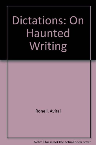 9780253317124: Dictations: On Haunted Writing