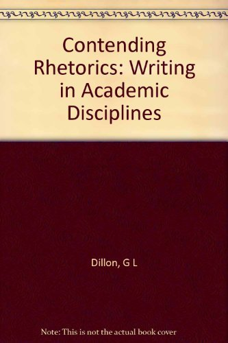 9780253317438: Contending Rhetorics: Writing in Academic Disciplines