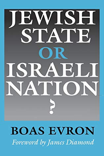 9780253319630: Jewish State or Israeli Nation?