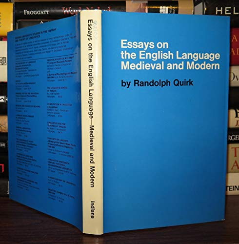 9780253319708: Essays on the English Language, Medieval and Modern.