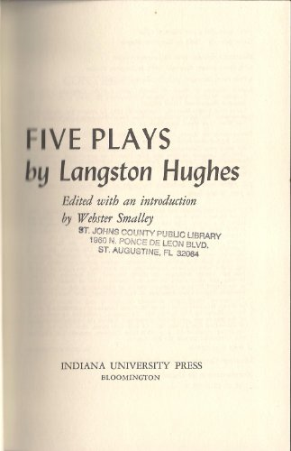 9780253322302: Five Plays by Langston Hughes
