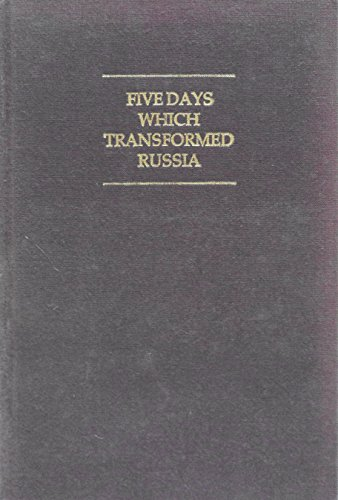 9780253324825: Five Days Which Transformed Russia (SECOND WORLD) (English and Russian Edition)