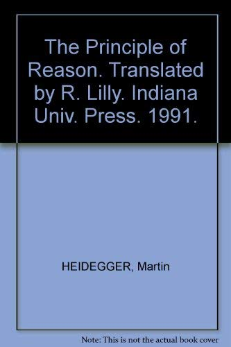 9780253327246: The Principle of Reason (Studies in Continental Thought)