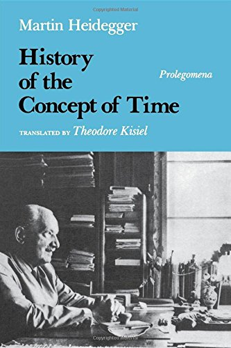 9780253327307: History of the Concept of Time: Prolegomena (Studies in Phenomenology and Existential Philosophy)