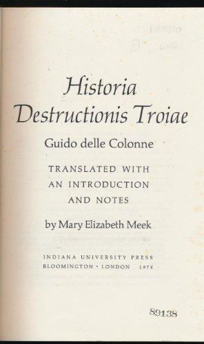 9780253327406: Historia Destructionis Troiae (Humanities)