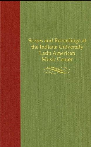 Scores and Recordings at the Indiana University: Lorenz, Ricardo; Hernandez,