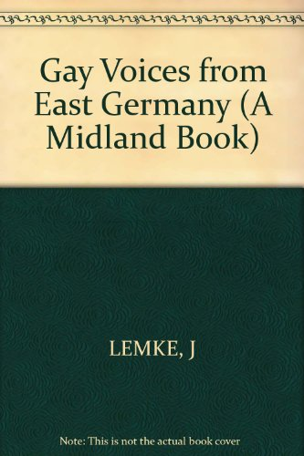 9780253333193: Gay Voices from East Germany (A Midland Book)