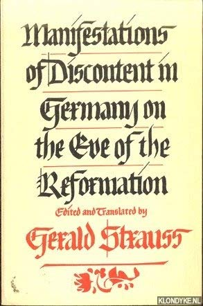9780253336712: Manifestations of Discontent in Germany on the Eve of the Reformation