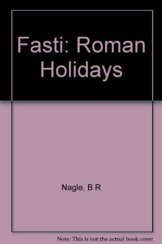 9780253339676: Ovid's Fasti: Roman Holidays