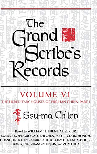 9780253340252: The Grand Scribe's Records, Volume V.1: The Hereditary Houses of Pre-Han China, Part I