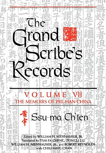 9780253340276: The Grand Scribe's Records: The Memoirs of Pre-Han China: Memoirs of Pre-Han China v. 7