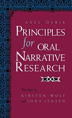 9780253341754: Principles for Oral Narrative Research (Folklore Studies in Translation)