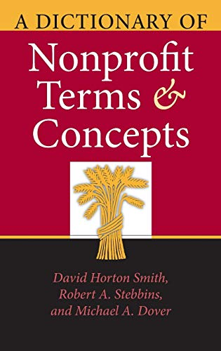 9780253347831: A Dictionary of Nonprofit Terms and Concepts (Philanthropic and Nonprofit Studies)