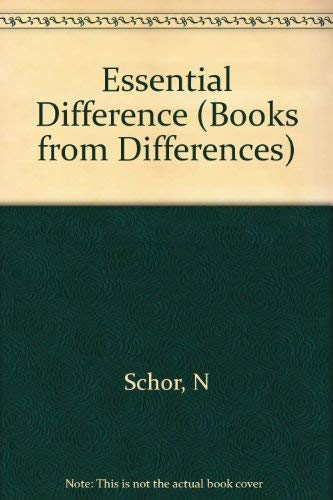 9780253350923: The Essential Difference (Books from Differences)