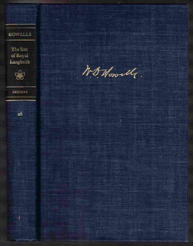 9780253353931: The son of Royal Langbrith (His A Selected edition of W. D. Howells, v. 26)