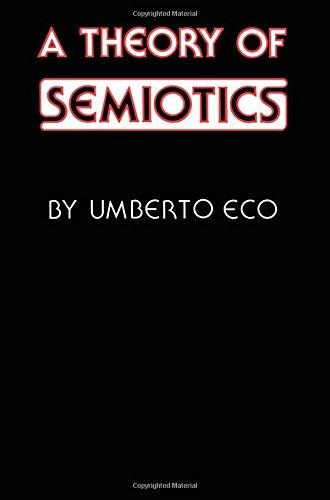 9780253359551: A Theory of Semiotics (Advances in Semiotics)