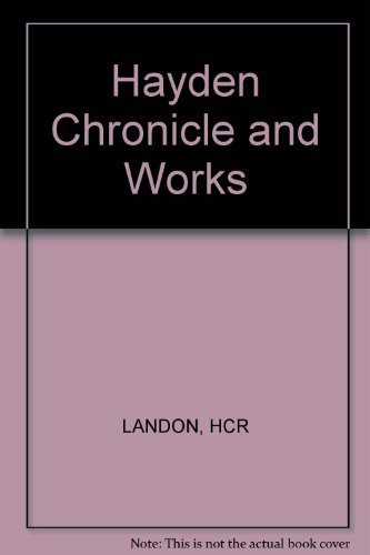Haydn. Chronicle and Works. Volume V: Haydn: The Late Years 1801-1809: Landon, H.C. Robbins