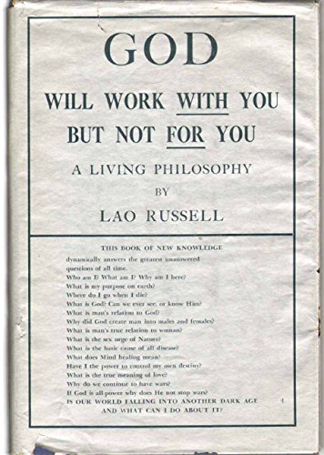 9780254031586: God Will Work With You But Not for You: A Living Philosophy