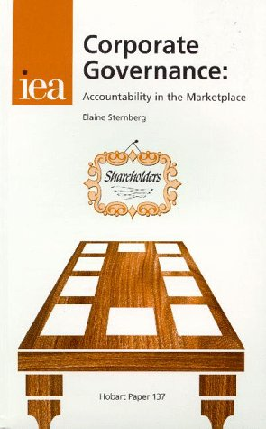 9780255364164: Corporate Governance - Accountability in the Marketplace (Hobart Paper 137)