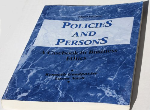 9780256007022: Policies and Persons