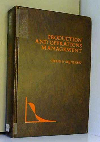 9780256014280: Production and operations management;: A life cycle approach (Irwin series in quantitative analysis for business)