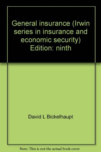 General Insurance: Bickelhaupt, David Lynn;Magee,