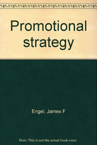 9780256016369: Title: Promotional strategy