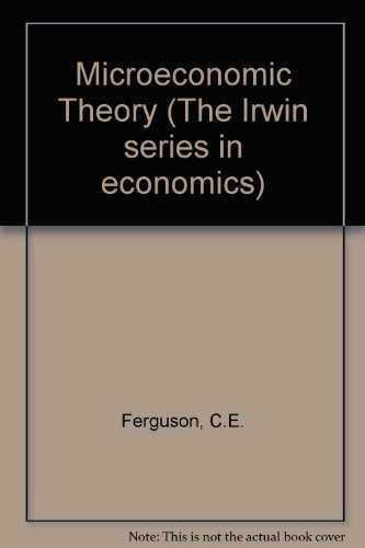 9780256016376: Microeconomic Theory (The Irwin series in economics)