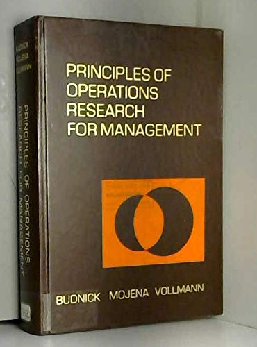 9780256017960: Principles of Operations Research for Management (Irwin series in quantitative analysis for business)