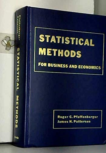 9780256017977: Statistical Methods: For Business and Economics (The Irwin series in quantitative analysis for business)