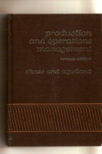 9780256019193: Production and operations management: A life cycle approach (Irwin series in quantitative analysis for business)