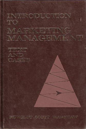 Introduction to Marketing Management: Stewart H. Rewoldt;